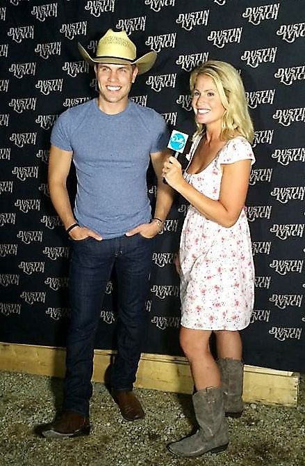 A huge county music fan, Naperville's Dolly McCarthy says she loved interviewing singer Dustin Lynch for her radio show.