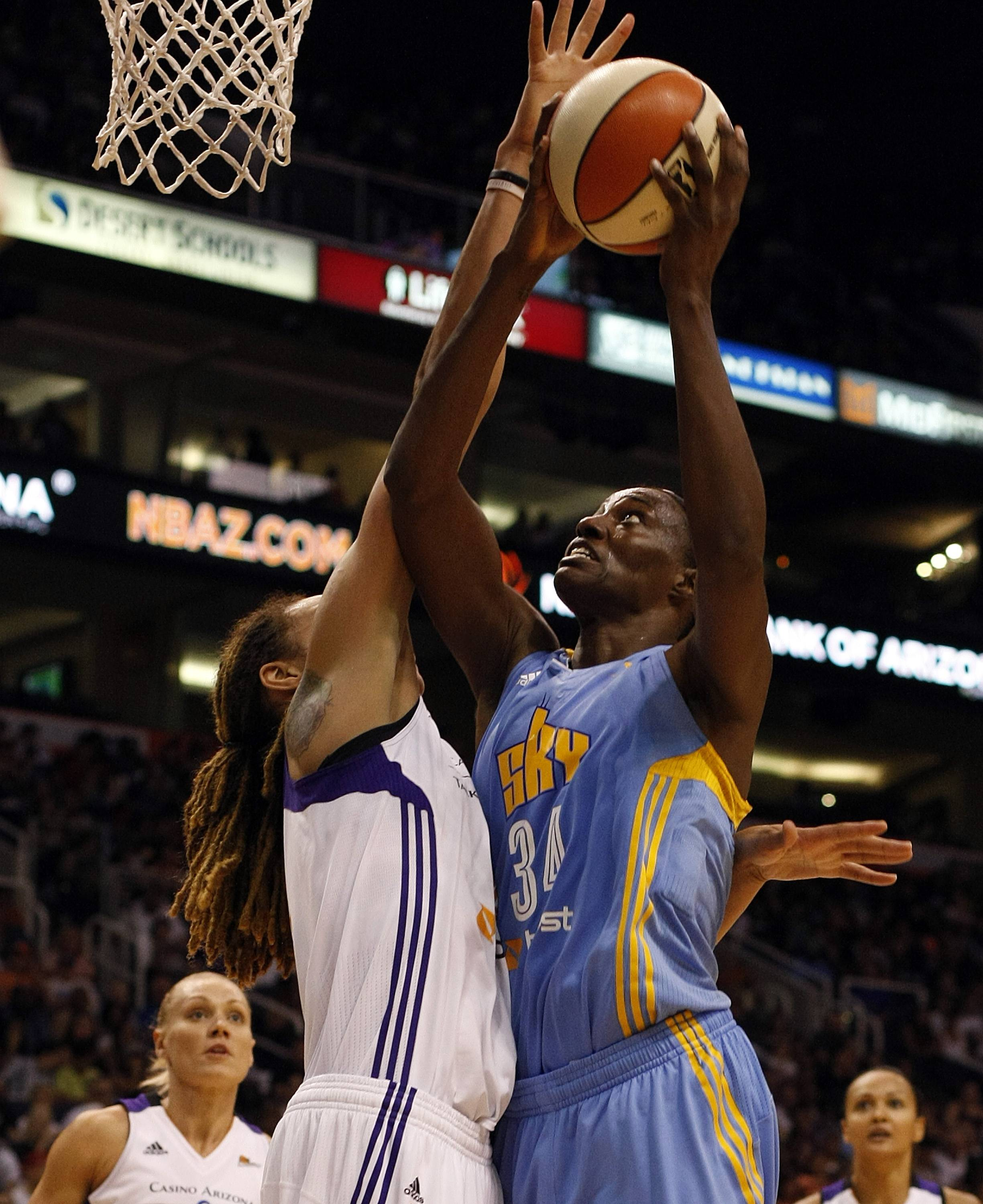 Olympic and all-star center Sylvia Fowles got her wish and is on her way to play for the Minnesota Lynx after the Sky's three-team trade.
