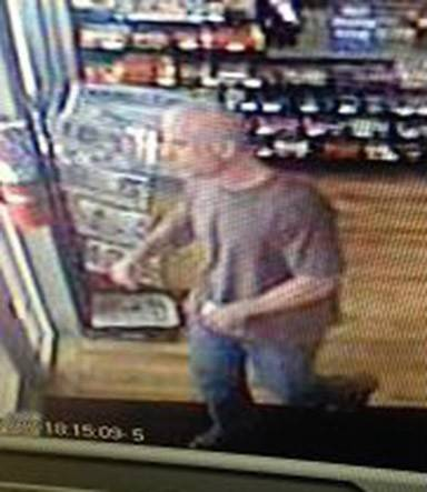 Aurora police say this man used deception last week to steal cash from at least three area businesses.