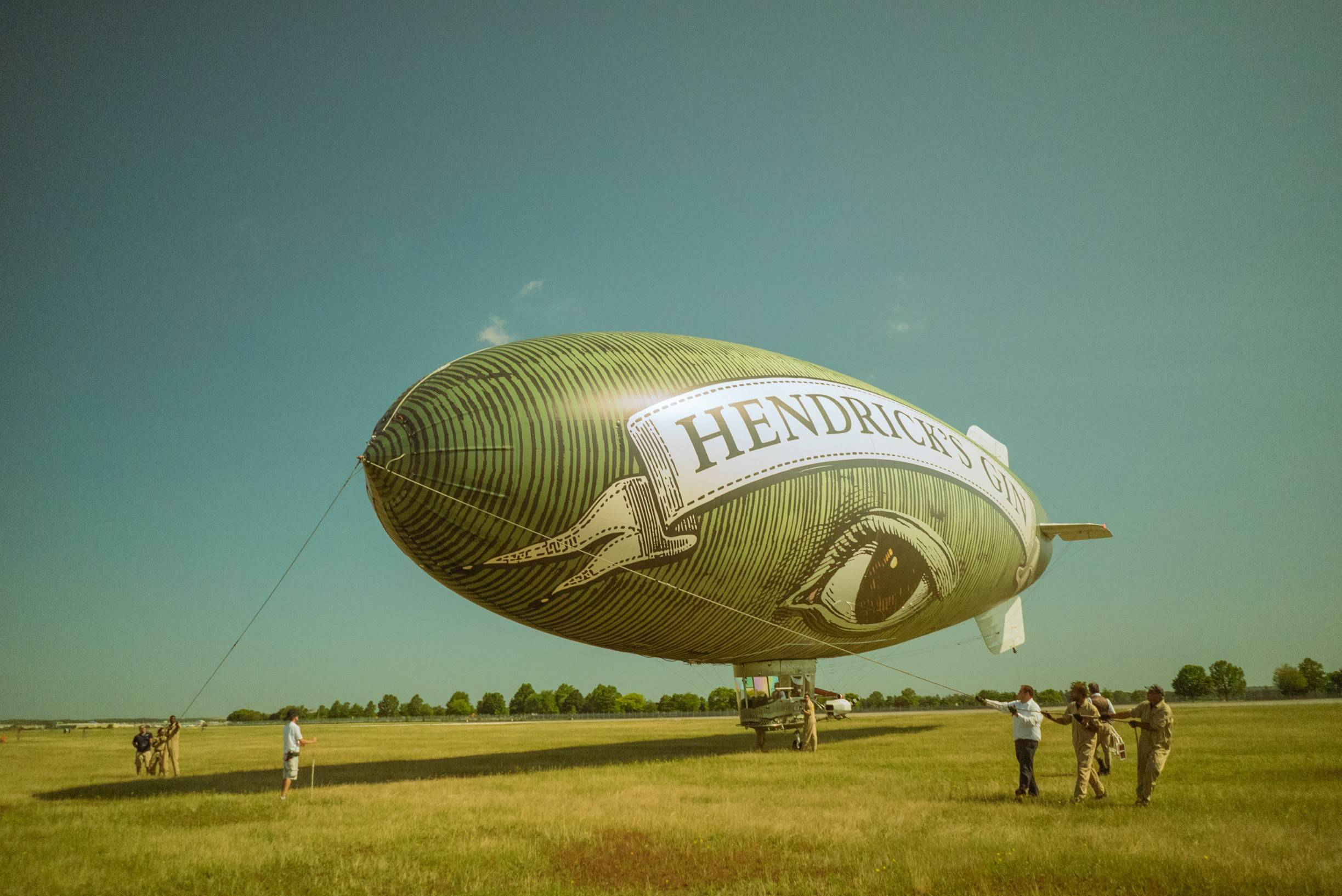 The Flying Cucumber, a blimp sponsored by Hendrick's Gin, will be an unusual sight in the skies Friday over DuPage County as it makes several flights from DuPage Airport in West Chicago.