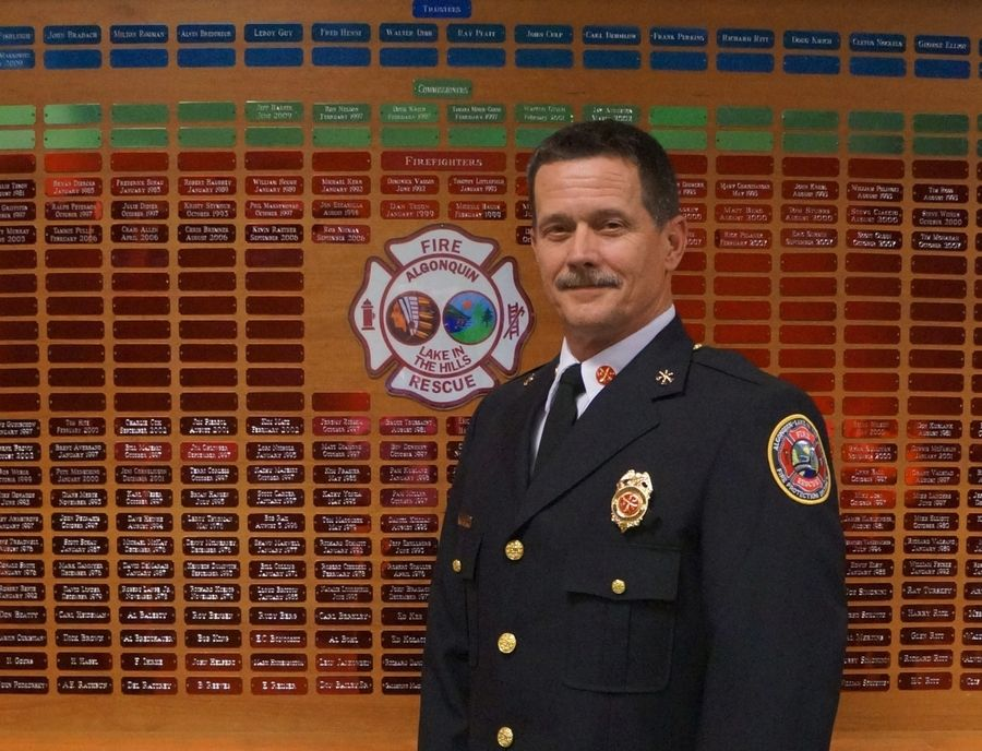 Peter Van Dorpe was named the next fire chief of the Algonquin-Lake in the Hills Fire Protection District. He will begin Aug. 7.