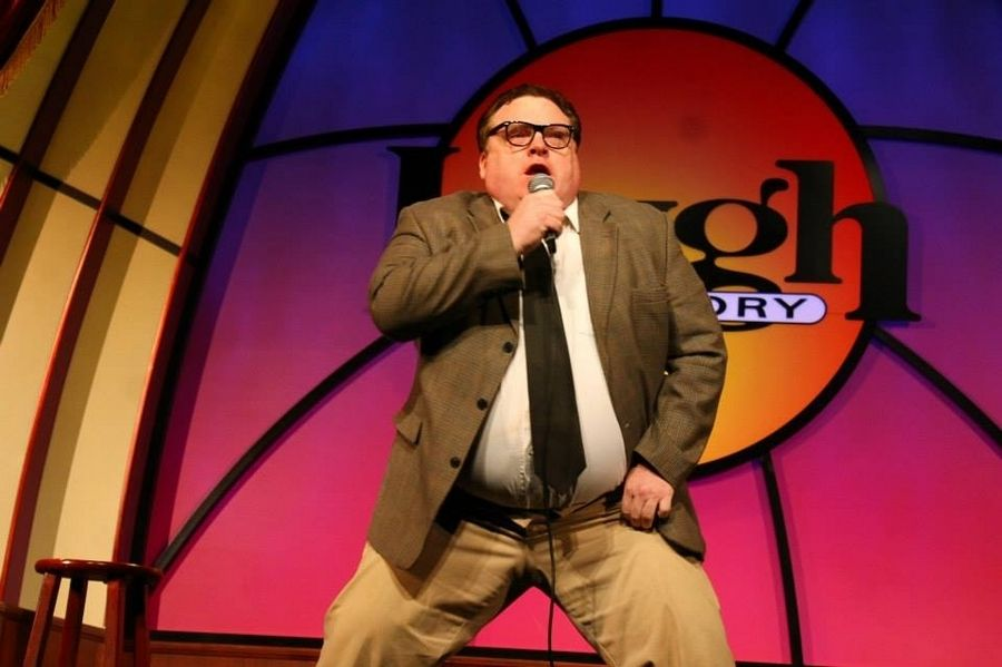 Matt Kissane performs as The Motivational Speaker, Matt Foley at Laugh Factory in Chicago, 2014