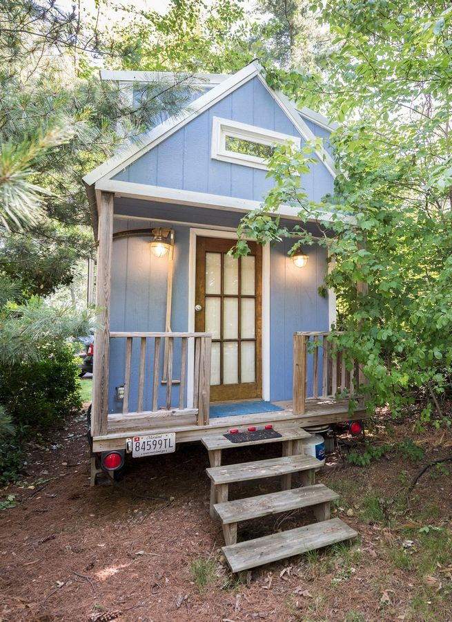 Renee and Greg Cantori of Pasadena, Maryland, bought their tiny house to live in after they retire.