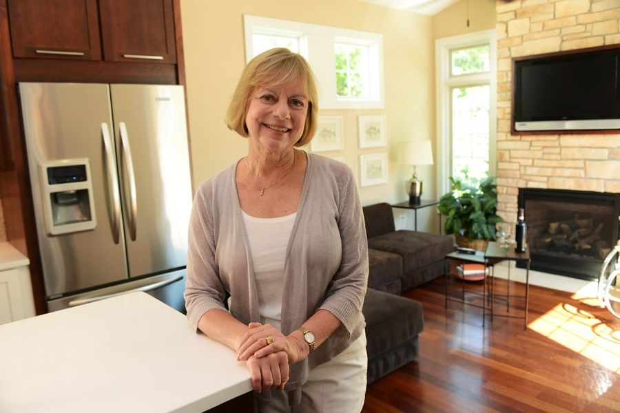 Susanne Tauke is founder and president of New American Homes. She is in the LIFEhouse model in Antioch's Newport Cove subdivision.