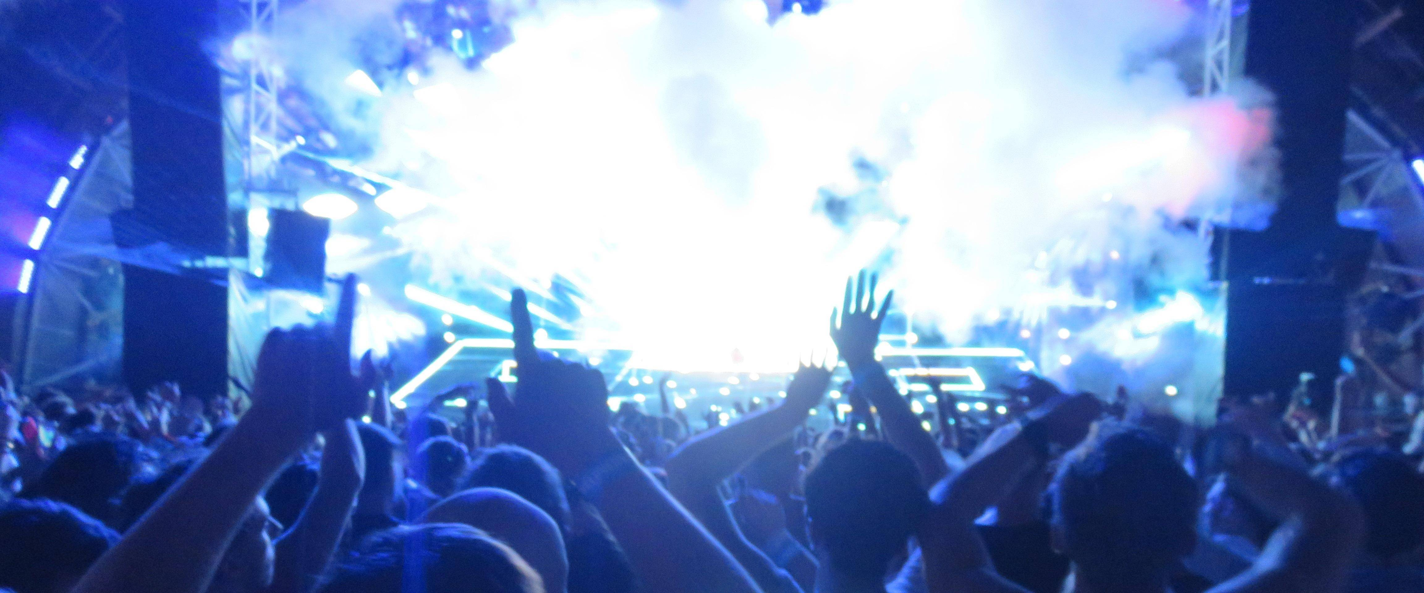 A loud concert might end up causing hearing problems.