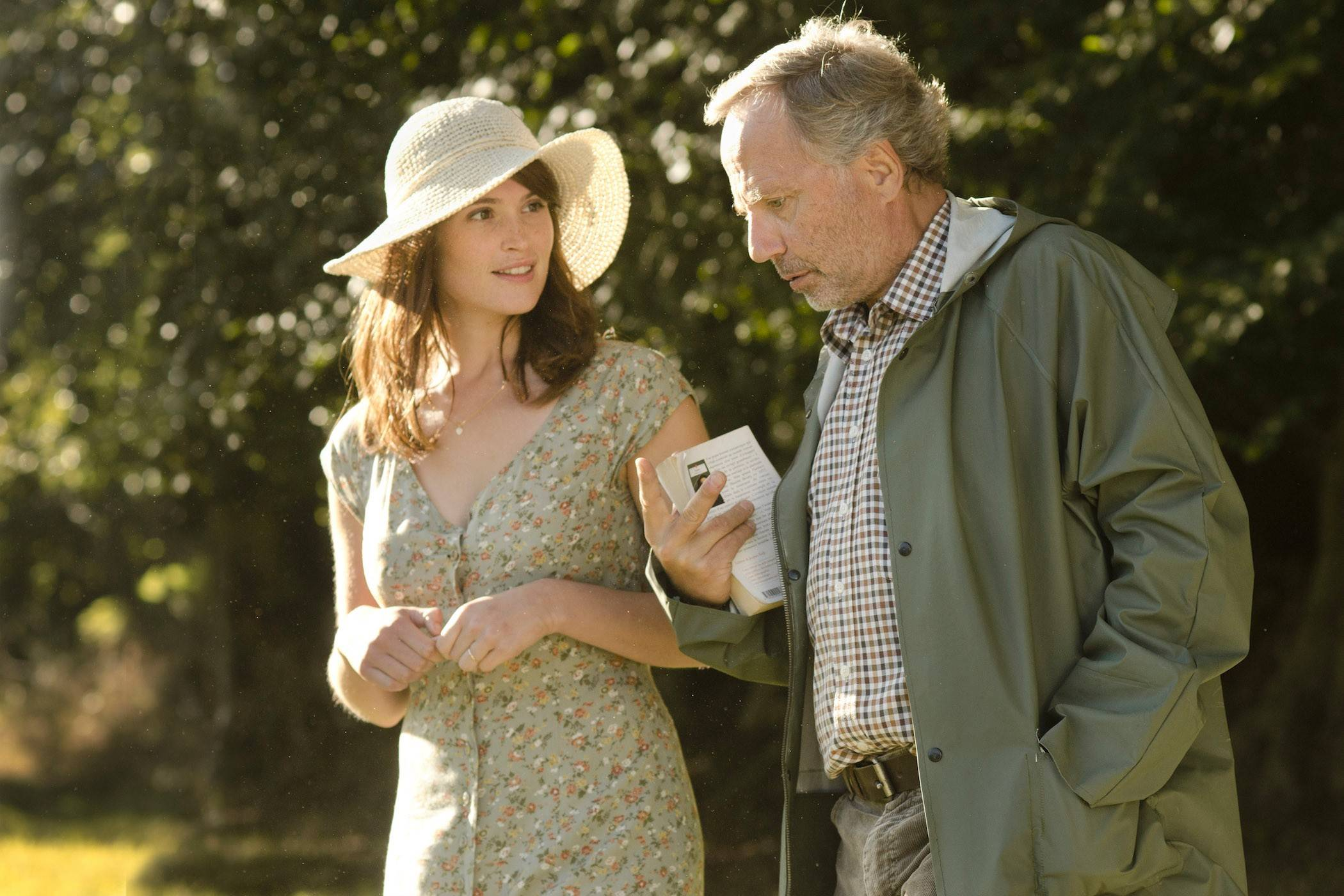 "Gemma Arterton plays a new British neighbor to an adoring middle-aged French baker (Fabrice Luchini) in Anne Fontaine's ""Gemma Bovery."""
