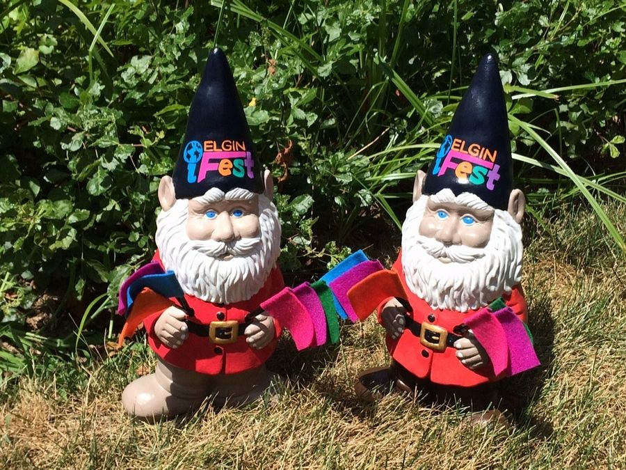 People will be encouraged to take selfies with these Elgin gnomes and upload them to social media with the tag #elginifest.