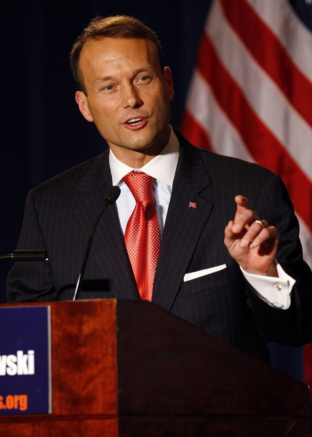 Adam Andrzejewski speaks during Illinois Republican Party 2010 Gubernatorial debate at Hilton hotel in Chicago, Thursday, Nov. 5, 2009.