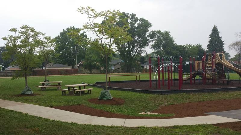 Volunteers Renovate Waukegan Playground