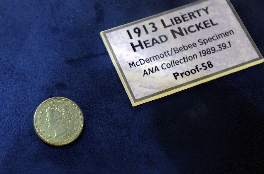 This rare 1913 Liberty Head Nickel on display at the World's Fair of Money in Rosemont is worth an estimated $2.5 million.
