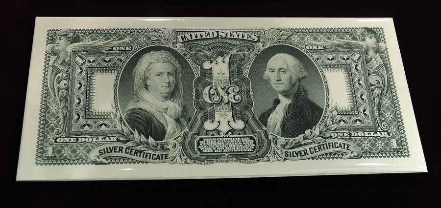 The Treasury Department plans to put a woman's likeness on currency soon, but the first woman to grace a U.S. bill was Martha Washington. She shared a spot on this 1896 $1 silver certificate with her husband, President George Washington.