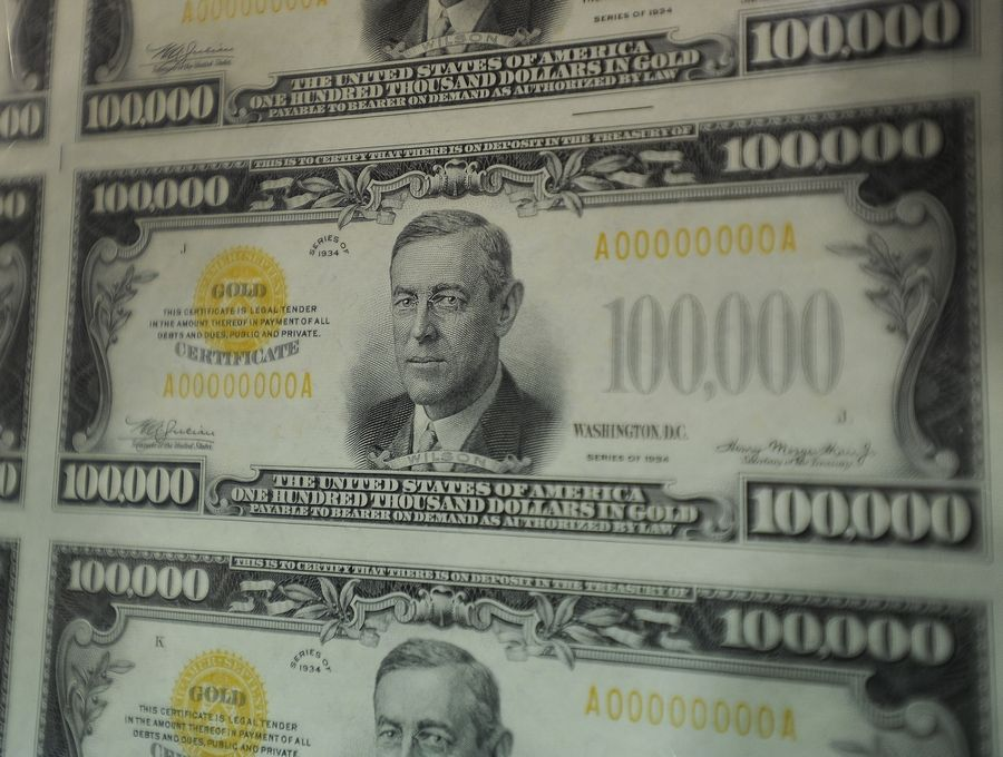 If you don't know that Woodrow Wilson, our 28th president, is featured on the $100,000 bill, you aren't alone. The 1934 bills were never in circulation and were used only by Federal Reserve Banks.