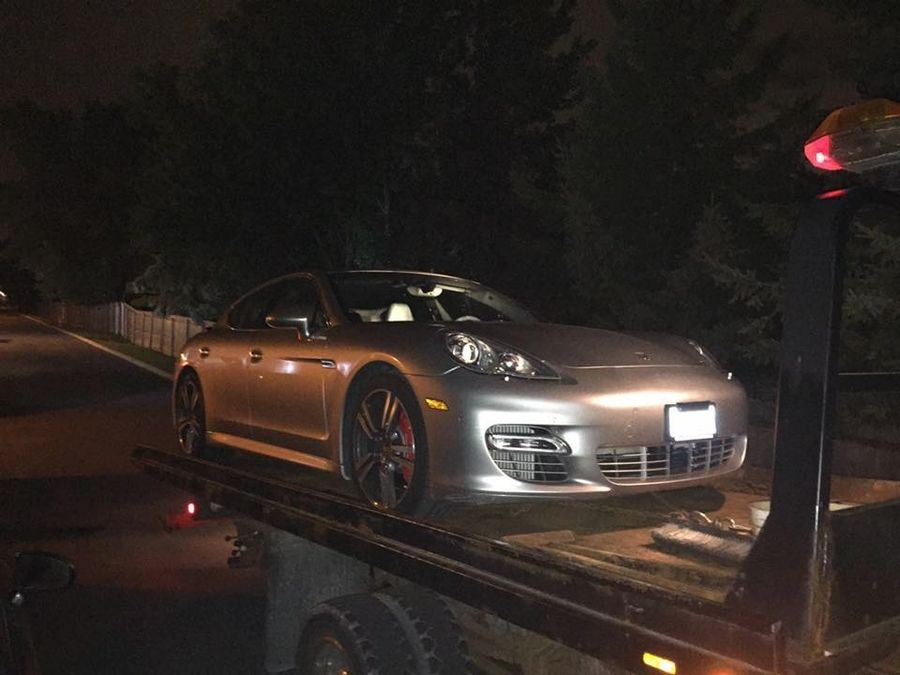 Naperville police said they seized three luxury cars Wednesday when they busted a poker ring, including this 2011 Porsche Panamera.