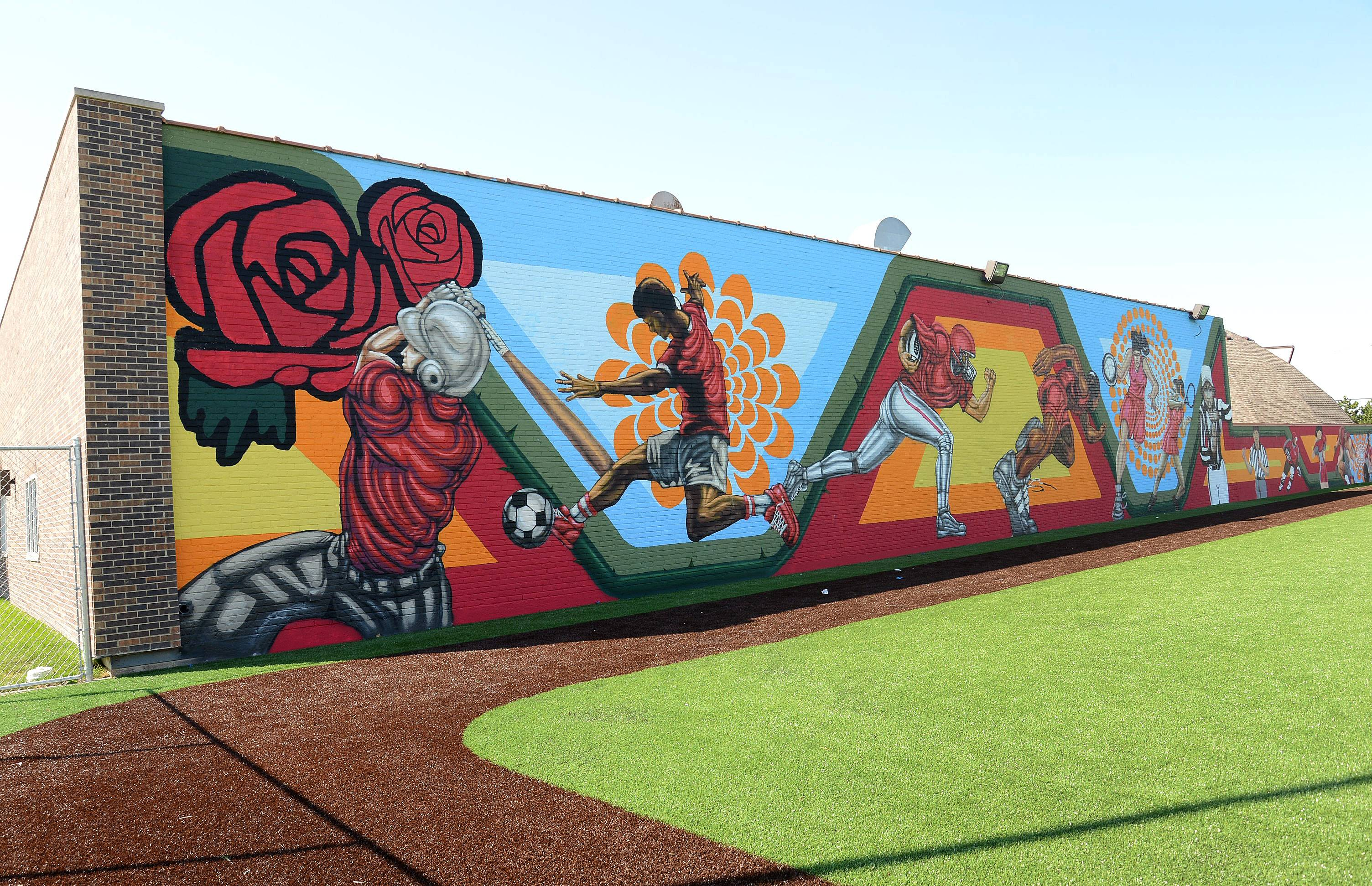Sports-themed mural to be dedicated in Rosemont