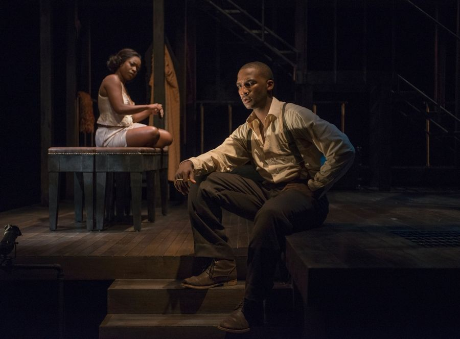 "Jerod Haynes, right, earned an equity Jeff Award nomination for his performance as Bigger Thomas, the titular ""Native Son"" in Nambi E. Kelley's adaptation of Richard Wright's novel. The world premiere collaboration between Court and American Blues theaters earned five nominations, including one for Kelley's adaptation."