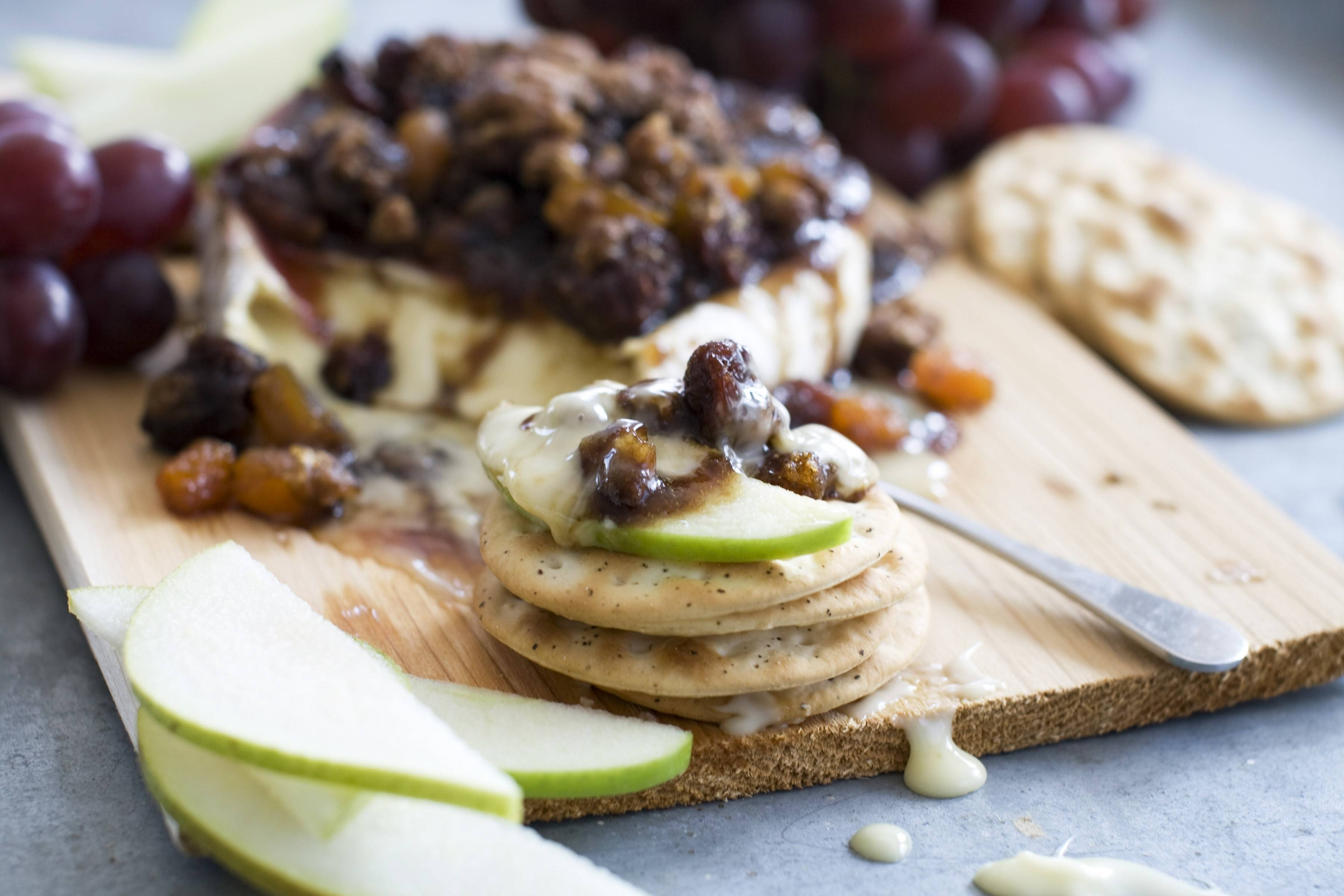 A recipe for cedar-planked pecan, bourbon and brown sugar glazed brie makes an impressive appetizer.