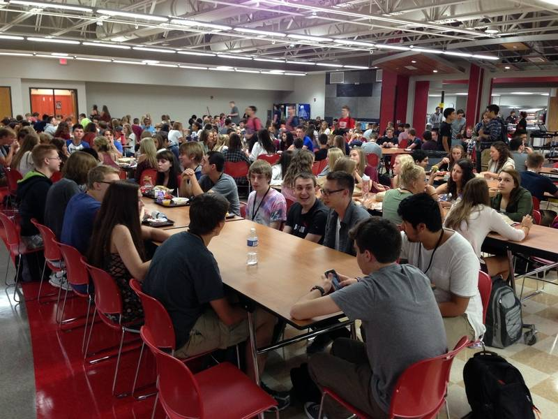 huntley high school students wednesday set foot in the revamped cafeteriacommons area designed