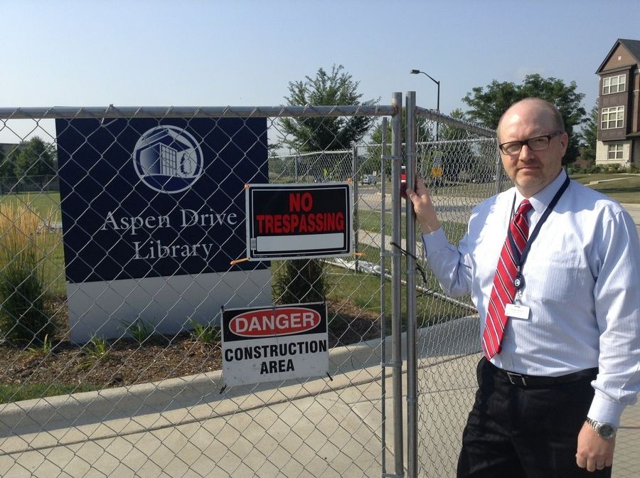 Cook Memorial Public Library District Executive Director David Archer is excited about the pending parking lot expansion at the Aspen Drive Library in Vernon Hills.