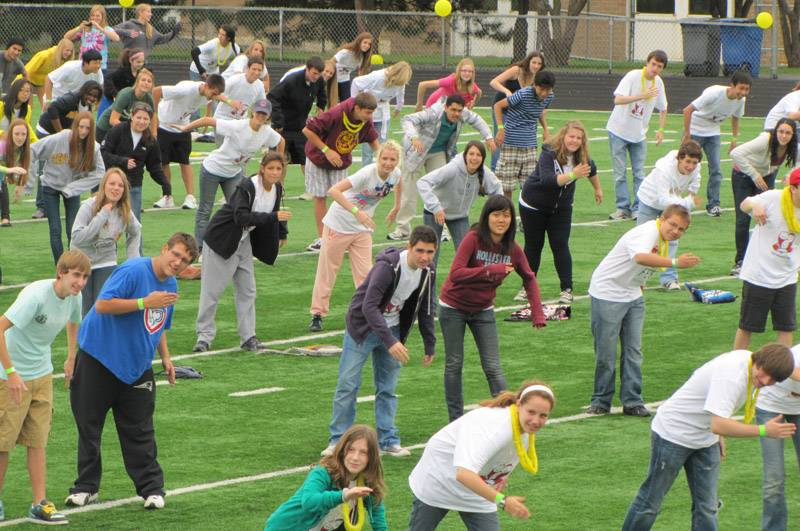Stevenson High School students, staffers and community members set the world record for the largest robot dance in 2010 as part of Spirit Fest. They'll try to set a different record Sept. 12.
