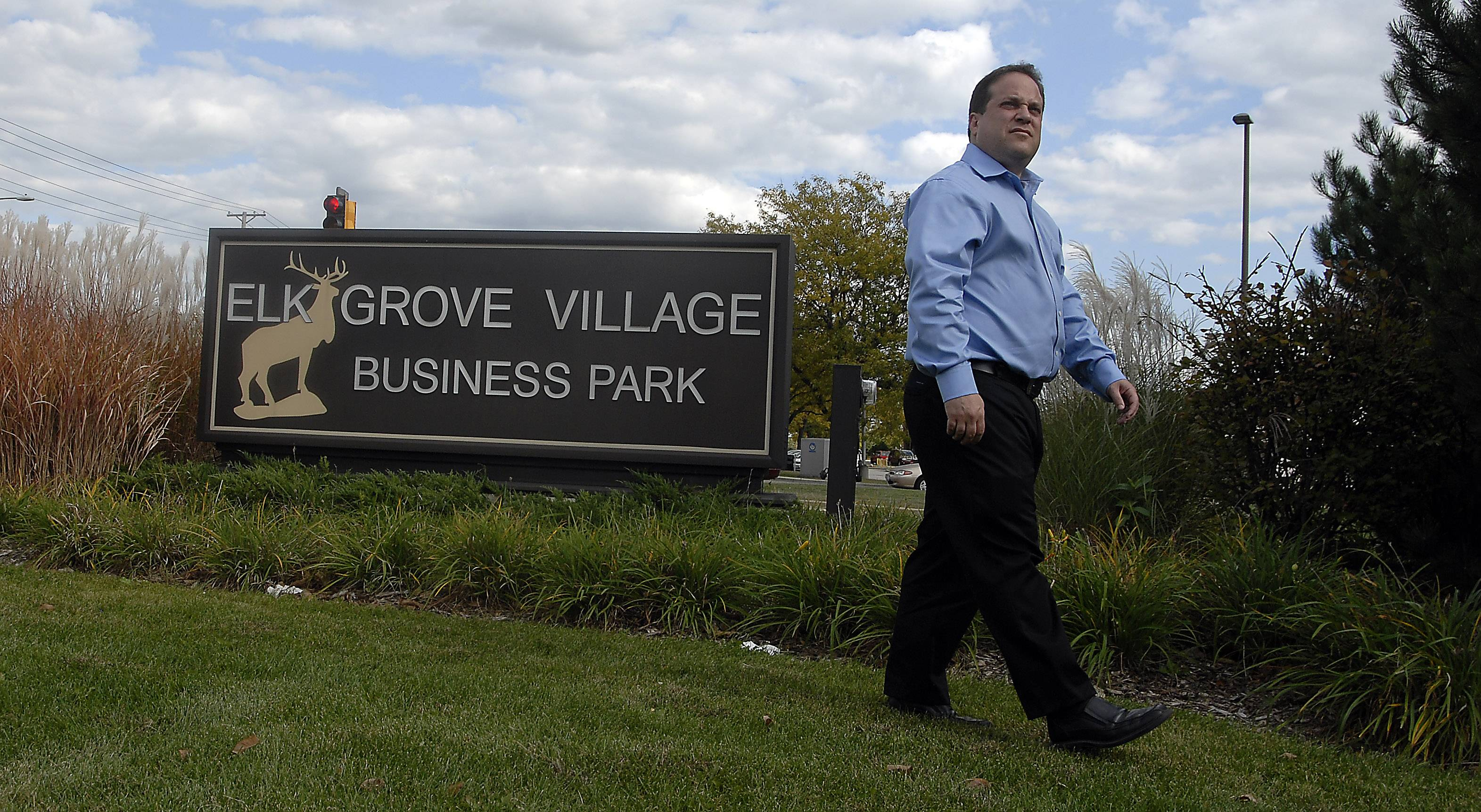 Josh Grodzin, director of business development and marketing of Elk Grove Village, walks near the industrial park in this 2010 photo.