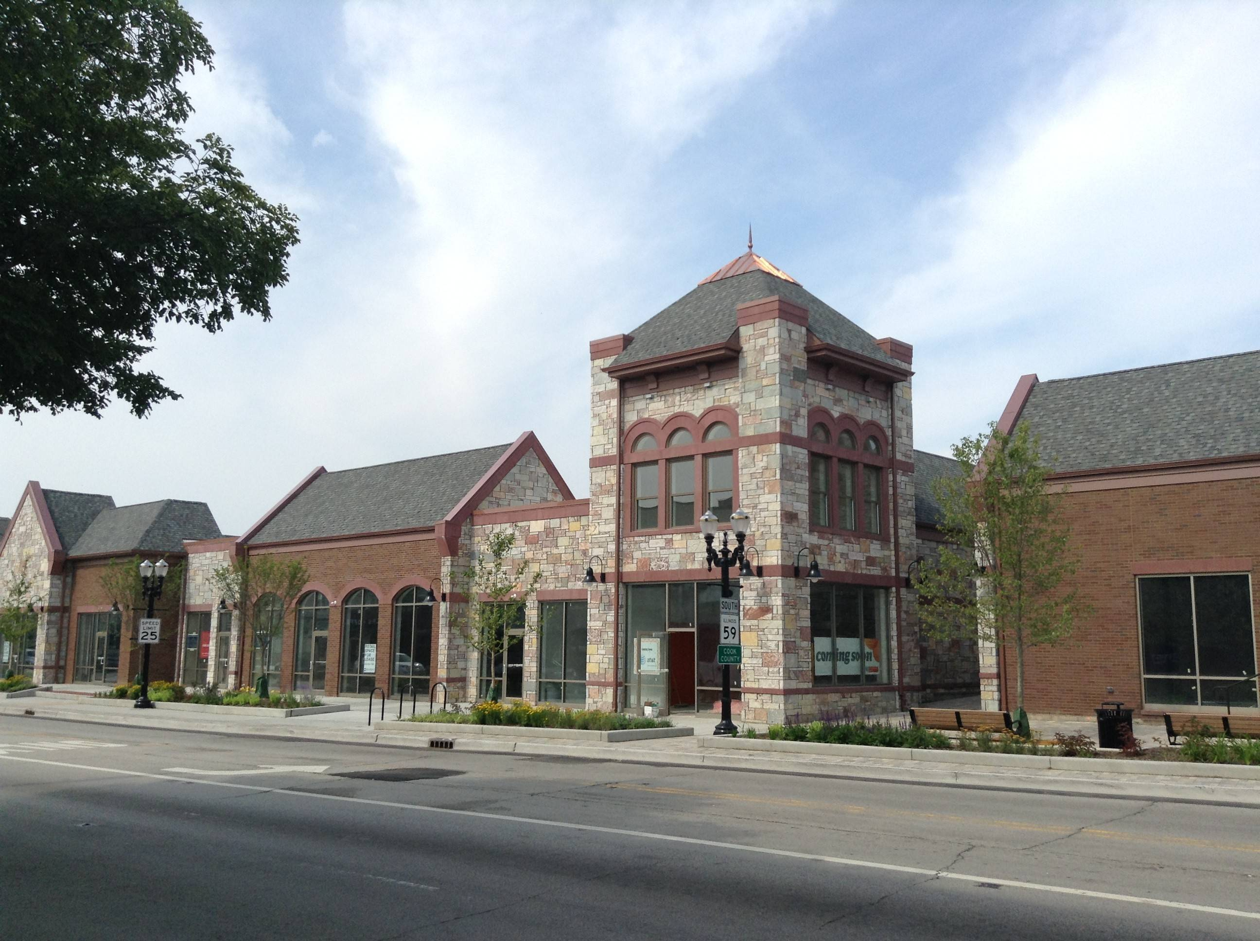 Barrington's newly completed Hough/Main redevelopment project downtown still awaits additional tenants.