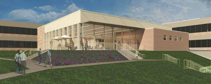 College of Lake County's new cafe building, overlooking Willow Lake, is scheduled to be completed in July 2016. It's part of a $163 million plan to expand the college's Grayslake, Vernon Hills and Waukegan campuses.