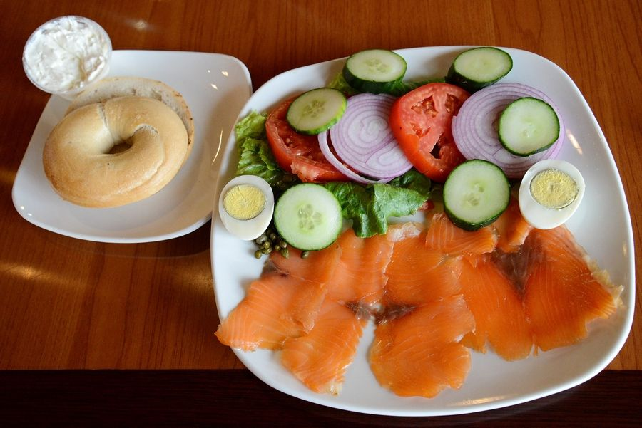 The lox is smoked in-house at Maple Cafe.