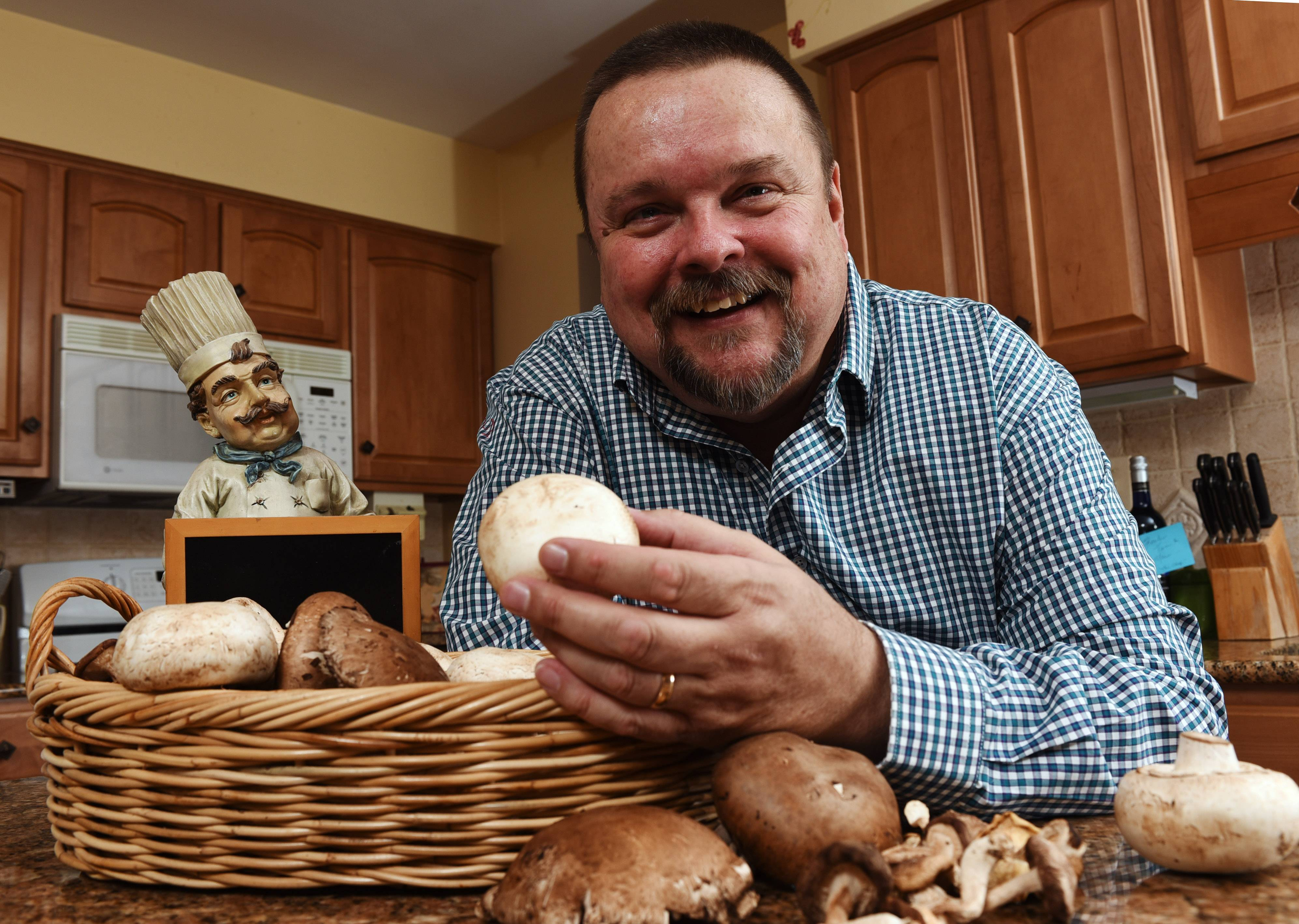 James Litza of Wood Dale enjoys cooking with mushrooms.