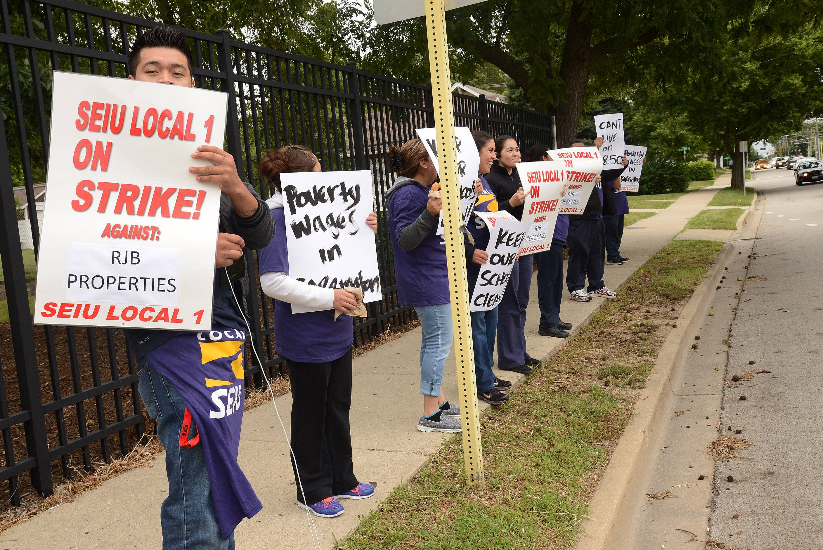 A custodian strike at Barrington High School is over, after the janitors' employer promised to up their pay from $8.50 to $9.50 an hour. The custodians will return to work Tuesday.