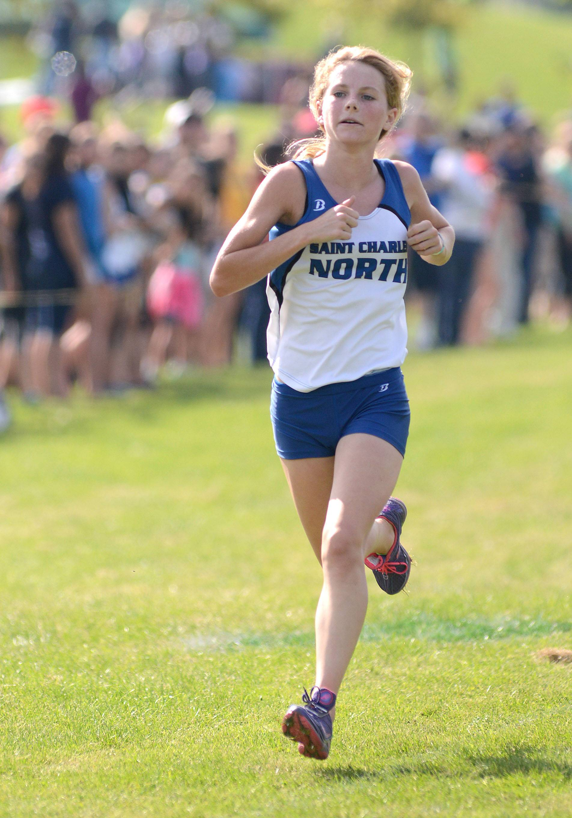 St. Charles North's Audrey Ernst capped a memorable freshman year by taking 13th at the Class 3A state meet.
