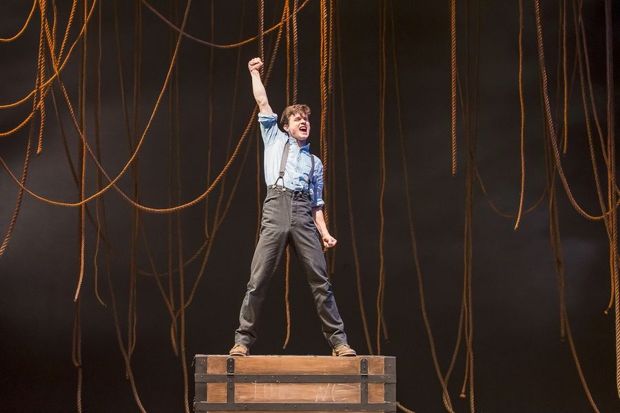 "Recent college graduate Caleb Donahoe makes his Drury Lane Theatre debut as the titular character in the ""Peter Pan"" prequel ""Peter and the Starcatcher."""