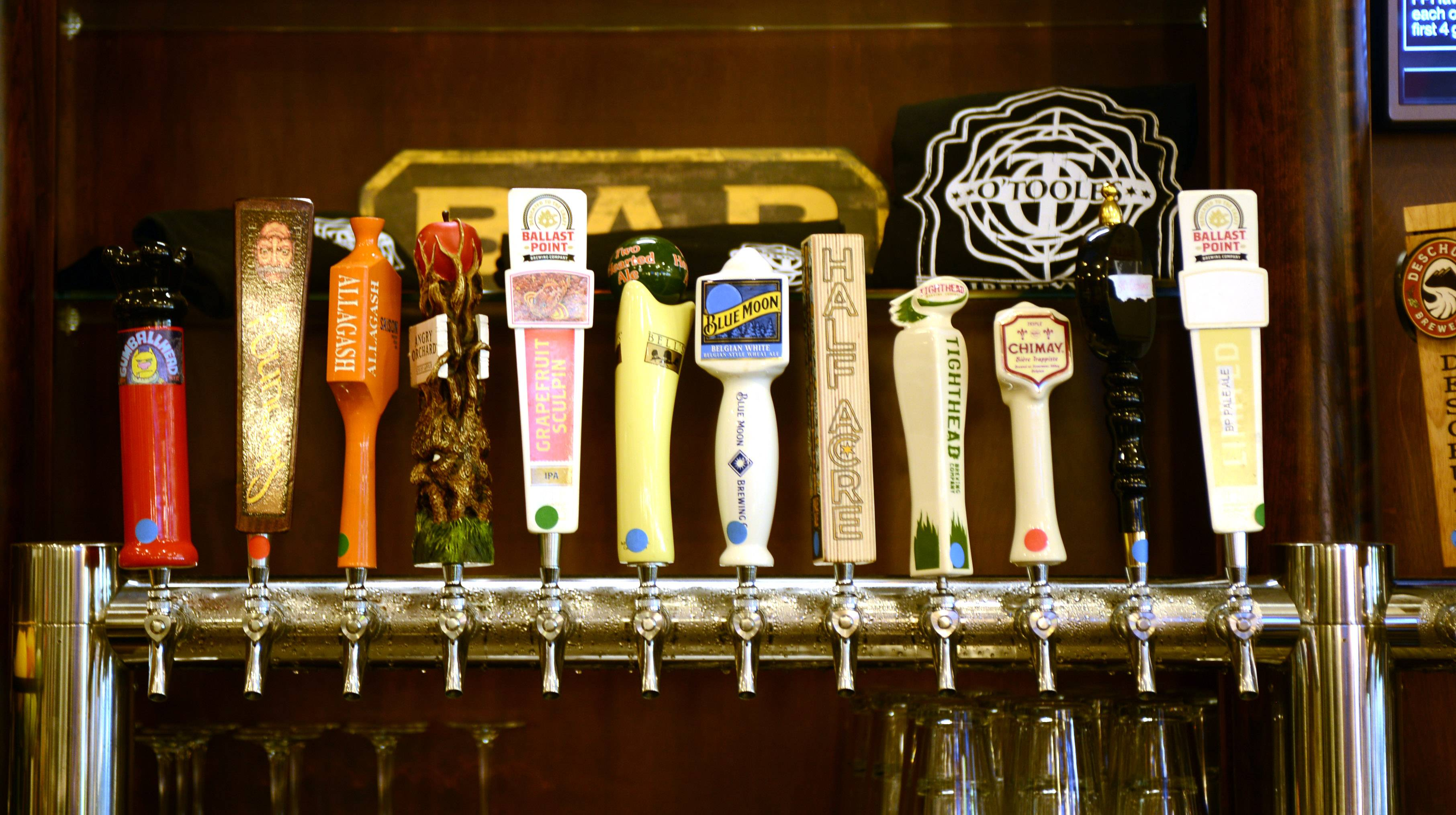 If you like beer, O'Toole's of Libertyville is the place to be with 48 beers on tap as well as 74 choices in bottles.