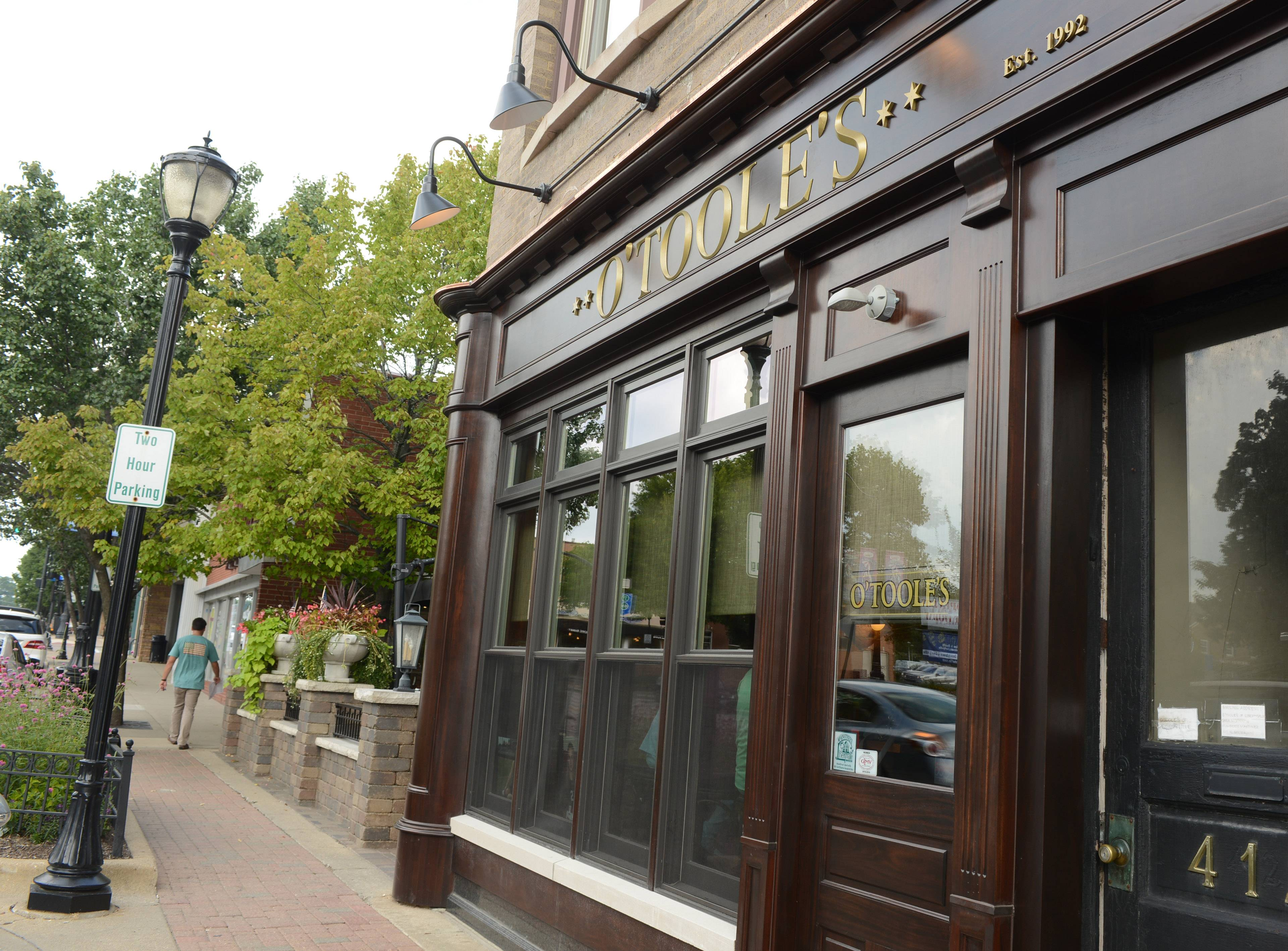 O'Toole's of Libertyville opened in June in the former Mickey Finn's space in downtown Libertyville.
