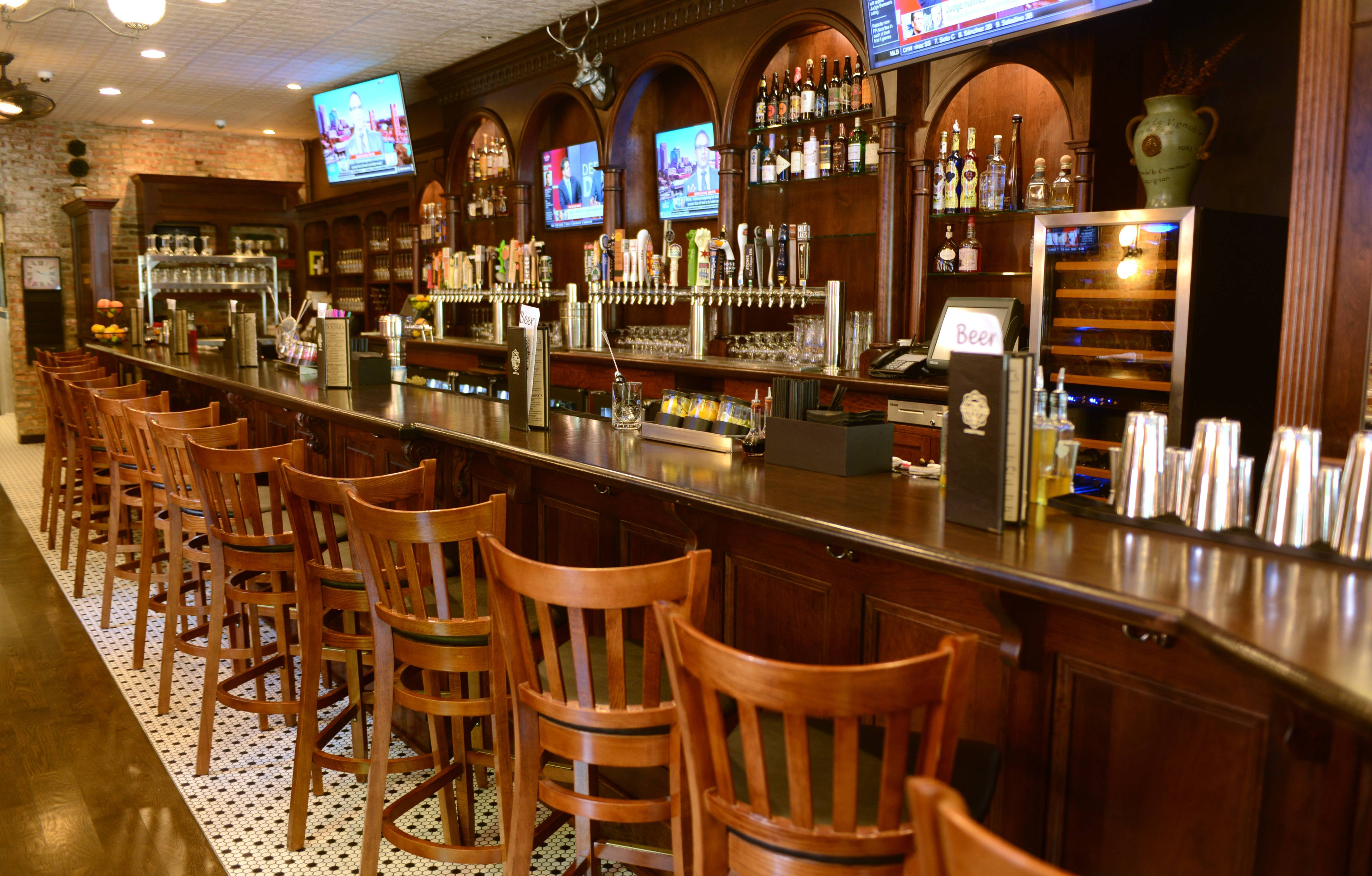 Start you meal with a libation at the bar on the main level of O'Toole's.