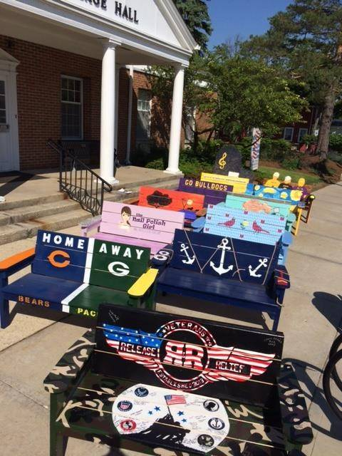 Wauconda's painted benches to be auctioned Thursday