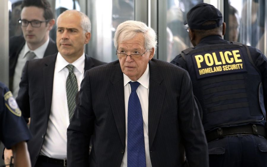 Former House Speaker Dennis Hastert arrives at the federal courthouse in Chicago for his June 2015 arraignment on federal charges.