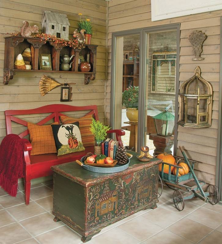 Fall Country Decorating Ideas: How To Create A Cohesive Fall Style In A Three-season Sunroom