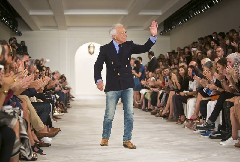 Fashion Designer Ralph Lauren Appears On The Runway After Showing His Spring 2017 Collection During