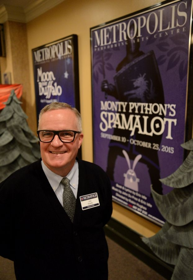 Metropolis Performing Arts Centre Executive Director Joe Keefe, posing in the Arlington Heights theater, talks about his years working with Hollywood's top comedic talent at Second City.