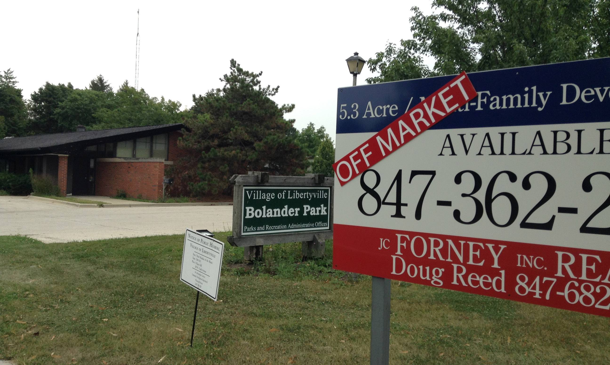 Sale of Libertyville park for townhouse development delayed again