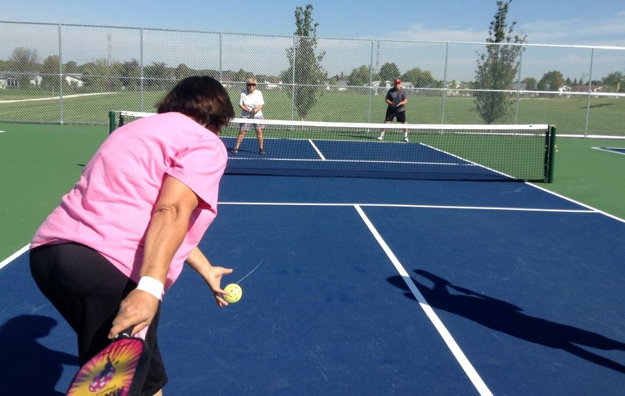 Outdoor pickleball courts debuted this week at Behm Homestead Park in Fremont Township.