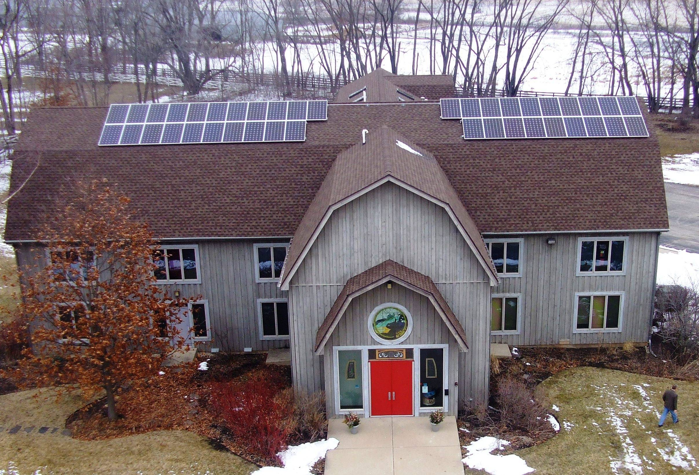 Unitarian Universalist Church of Elgin has photovoltaic solar installation on the roof. It is one of the stops on the Illinois Solar Tour Saturday, Oct. 3.