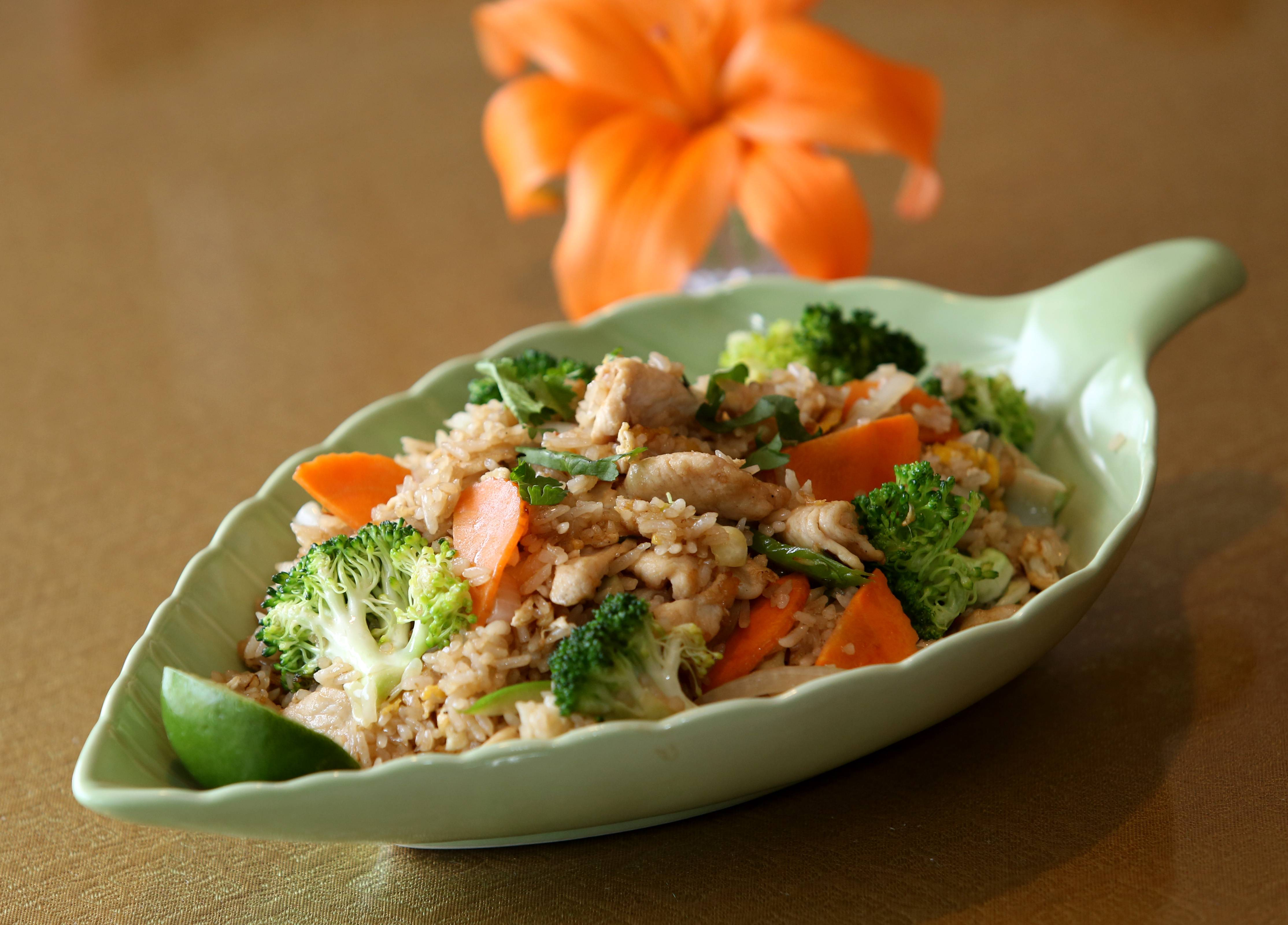 The Thai Fried Rice includes a hearty mix of veggies at the new Khao Suay Thai in Naperville.