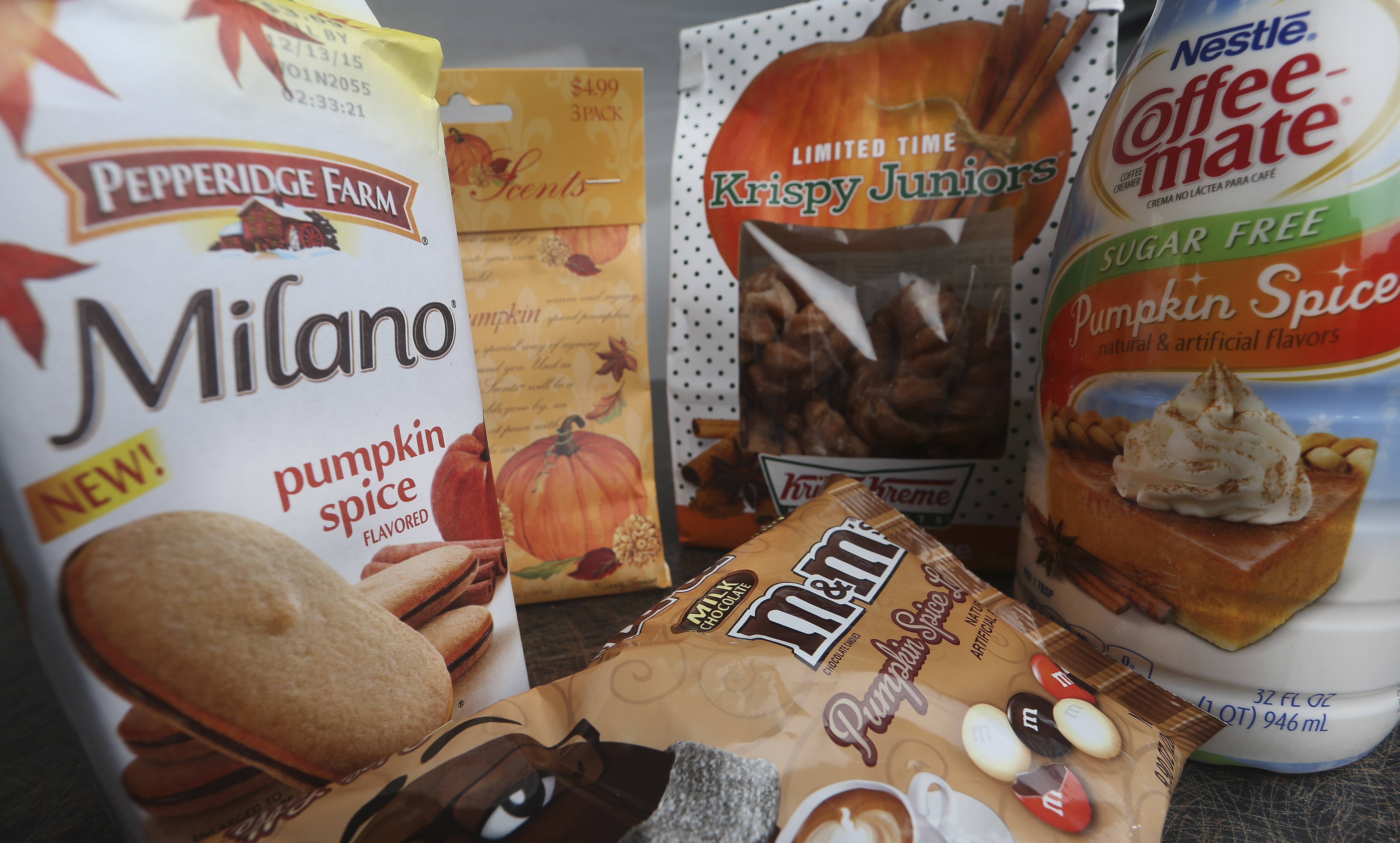 These days, pumpkin spice is a modifier on a list of foods that grows longer each fall: There are pumpkin spice lattes and breakfast cereals, doughnuts and yogurt-coated pretzels, pancakes and candy, even pizza and beer.