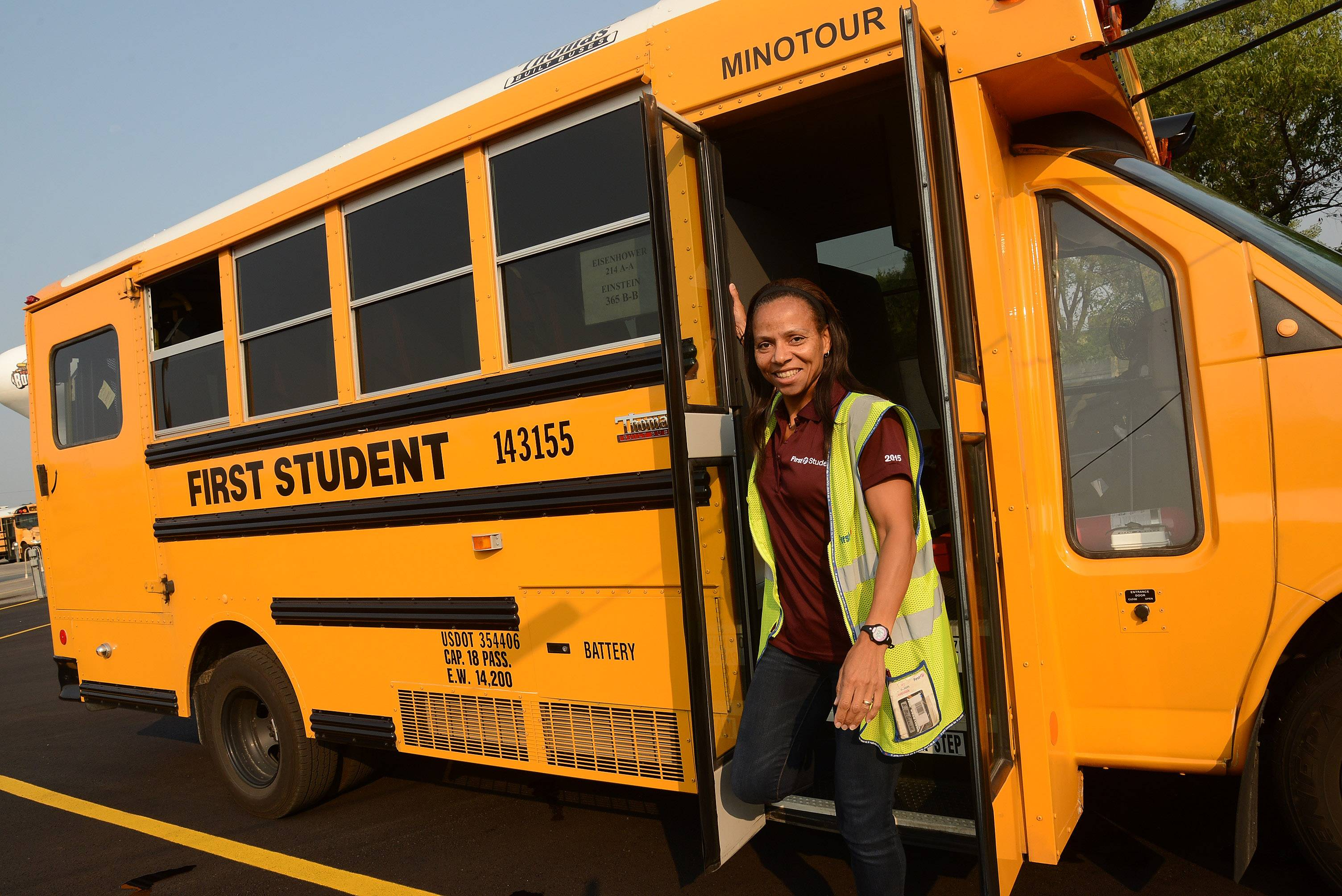 When not in training, Emma McGowan works as a school bus driver for Schaumburg Township Elementary District 54.