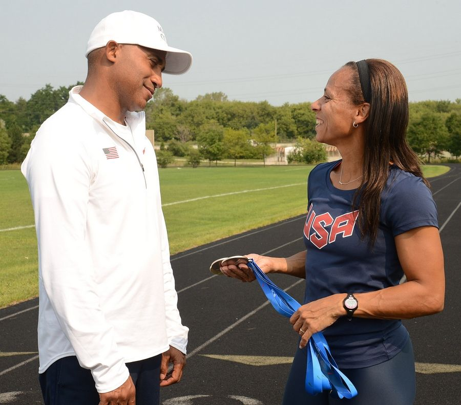 Emma McGowan meets with her coach, Clifton Culpepper, who's been coaching McGowan for one year. Culpepper says McGowan's success on the track is a direct result of her hard work in training.