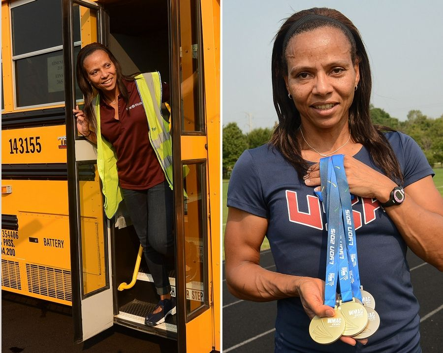 Hanover Park resident Emma McGowan is not only a bus driver for Schaumburg Township Elementary District 54, but she's also a world champion track athlete.