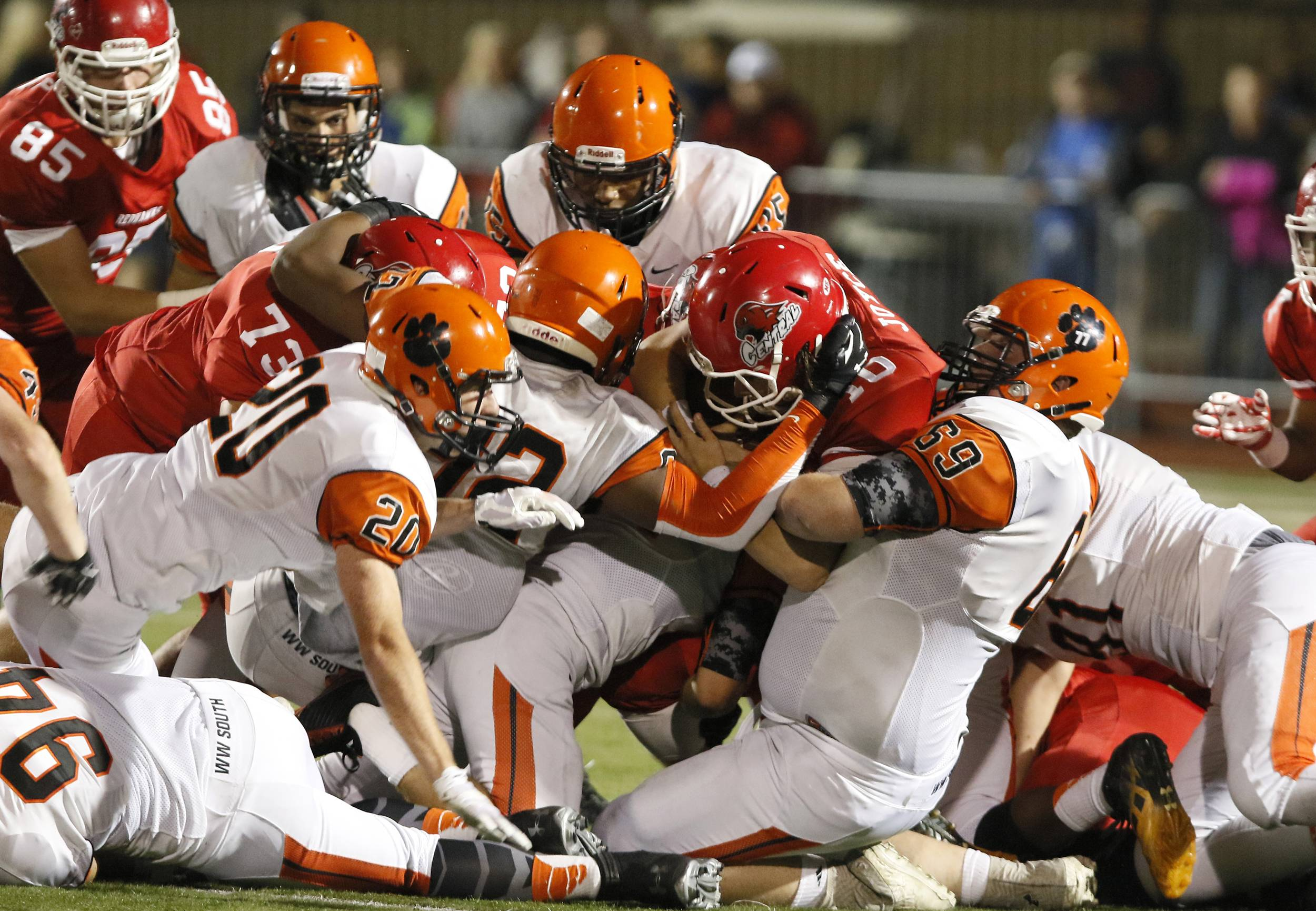 Naperville Central defeated Wheaton Warrenville South 20-8 in Week 5 action.