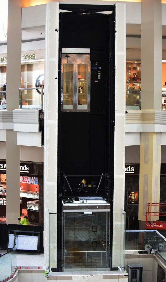A second elevator became operational in the center court of Woodfield Mall in Schaumburg Thursday.