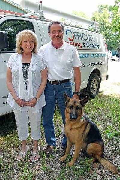 Adam Kern And His Wife Cheryl Owners Of Official Heating Cooling Have
